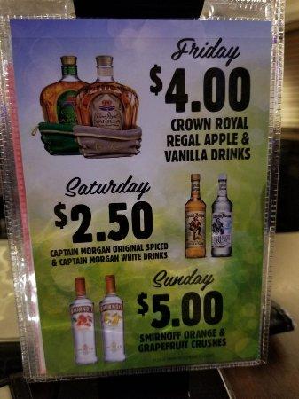 Norland Pub: Weekly specials