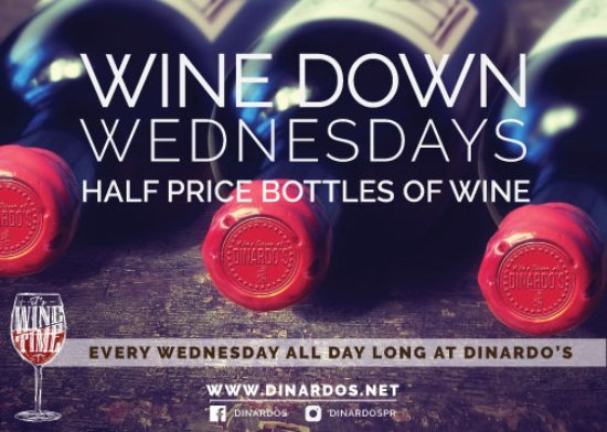 Pound Ridge, NY: Come Join Us every Wednesday for Wine Down at DiNardo's - Half price bottles of wine