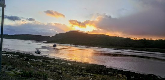 Kippford, UK: View from room eight.