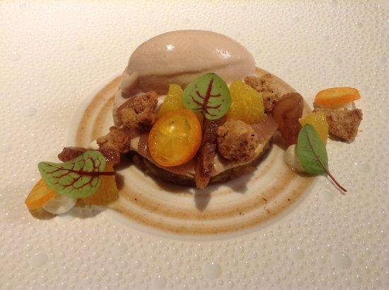 Terrasson-Lavilledieu, Frankreich: Châtaigne aux parfums d'agrumes: Textures de marron, marmelade