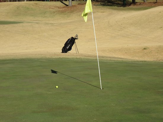 Johns Creek, GA: Dropped it right on the green for an easy par.