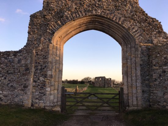 Dunwich, UK: The entrance arch