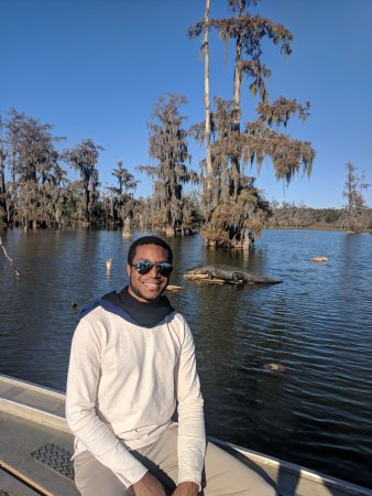 Champagne's Cajun Swamp Tours: on the north side of the lake