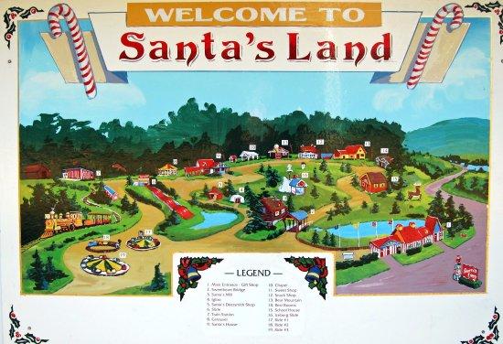 Putney, VT: Santa's Land Park Map
