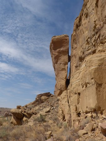 Nageezi, Nouveau-Mexique : Interesting rock formations in the canyon