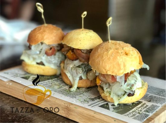 Tazza D Oro Caffe Sliders Are Perfect Combination 100 Angus Beef