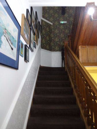 Fraoch House: Stairs to the second floor rooms.