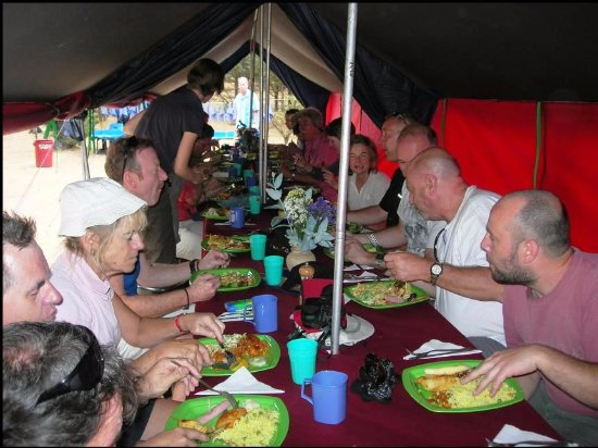 SAS Travel Peru: FIRST LUNCH ON INCA TRAIL HIKE!