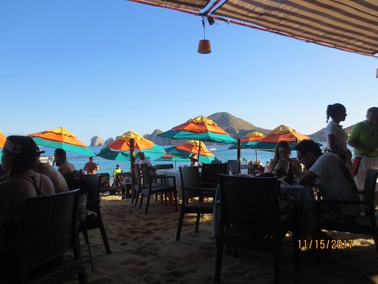Medano Beach: Mango Deck to grab a drink and bite to eat, out of the sun!