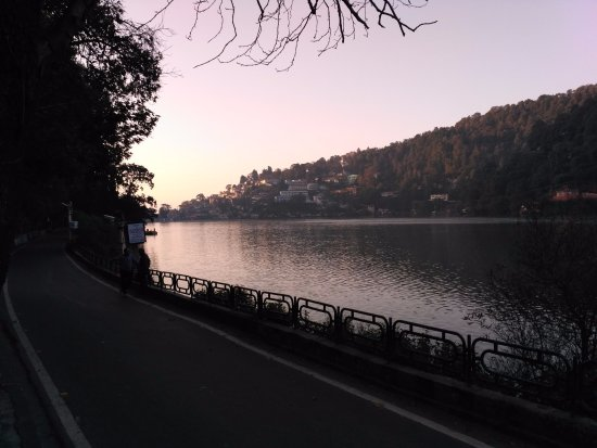 Sunrise at nainital lake