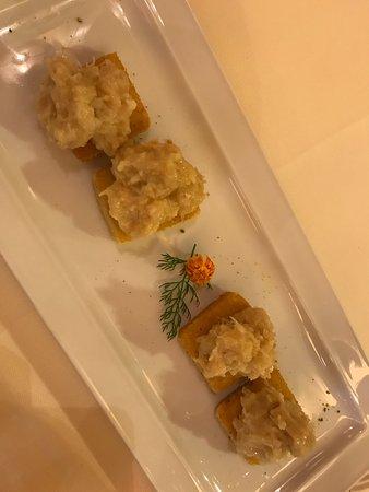 Osteria Al Gigianca : Baccalà su polenta
