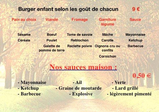 Douvaine, فرنسا: burger enfant 