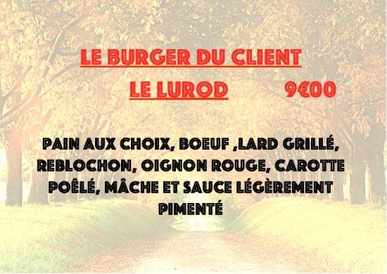 Douvaine, فرنسا: burger du client 