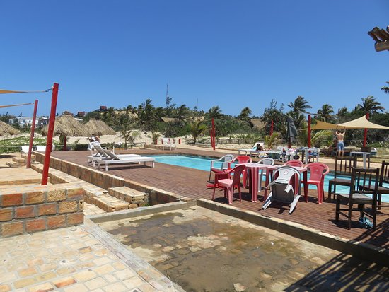 Inhambane, Mozambique: View of the pool and deck