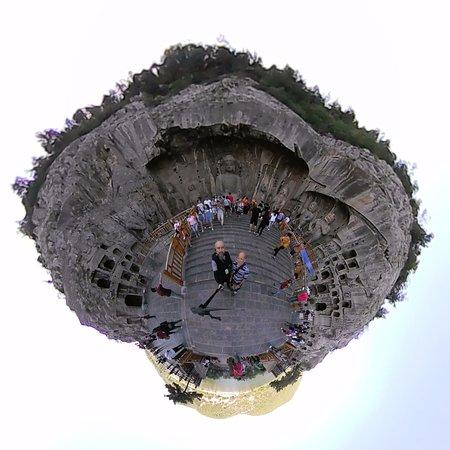 360 planet view of Luoyang Longmen Mountain