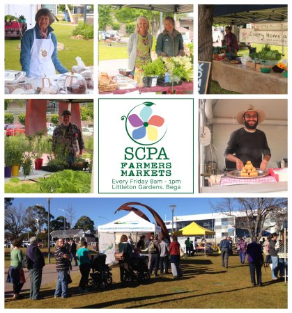 Bega, Australien: The SCPA Farmers Markets, local producers and growers all coming together on a Friday Morning.