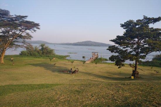 Munyonyo, Ouganda : The pier into the lake