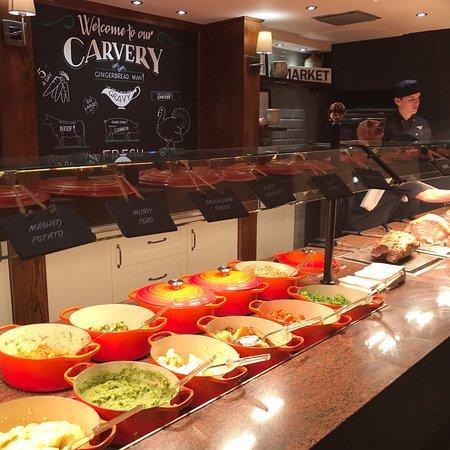 Market Drayton, UK: The Gingerbread Man, Greene King Pub & Carvery