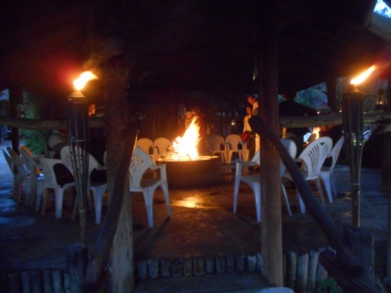 Port Elizabeth, South Africa: Fire pit at the boma