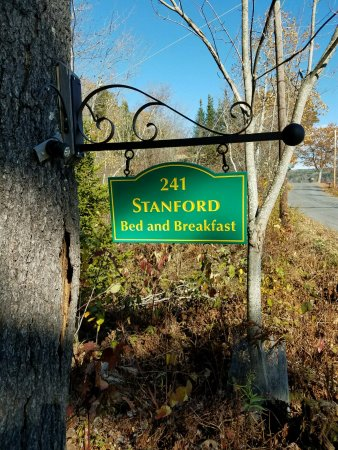 Enfield, NH: B&B sign on Crystal Lake Road
