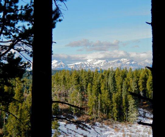 Bragg Creek, Canada: Nice peekaboo views of the mountains