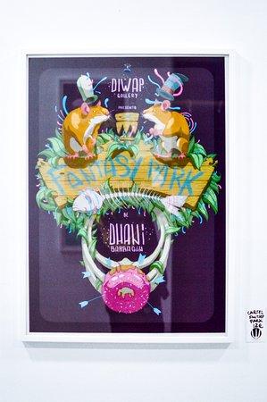 Cartel de la exposición Fantasy Park de Dhani Barragán.