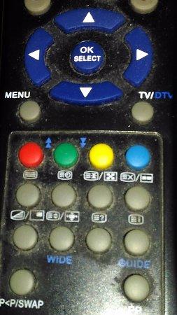 Hotel Contilia: Particolare del telecomando