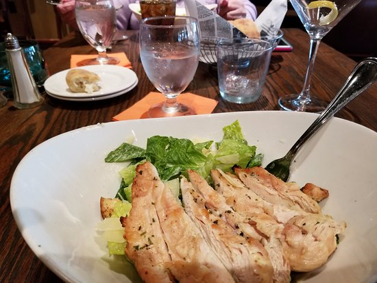 Springfield - Delaware County, PA: More like chicken served on bed of lettuce than Caesar Salad with grilled chicken!