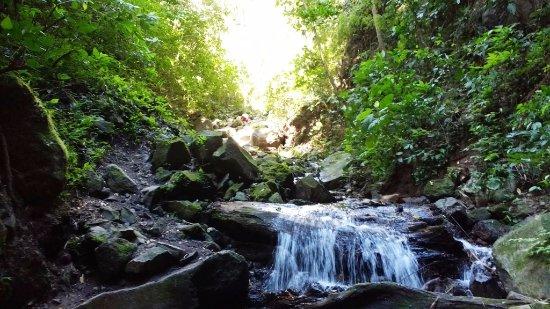San Ramon, Nicaragua: final path up the stream