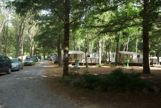 Joannas, France : les emplacements pour tentes ou caravanes