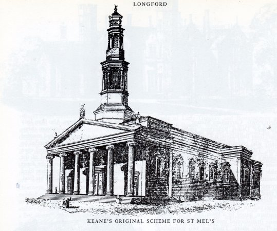 Longford, İrlanda: This is the design of the cathedral as envisaged in 1840. Today it looks very similar.