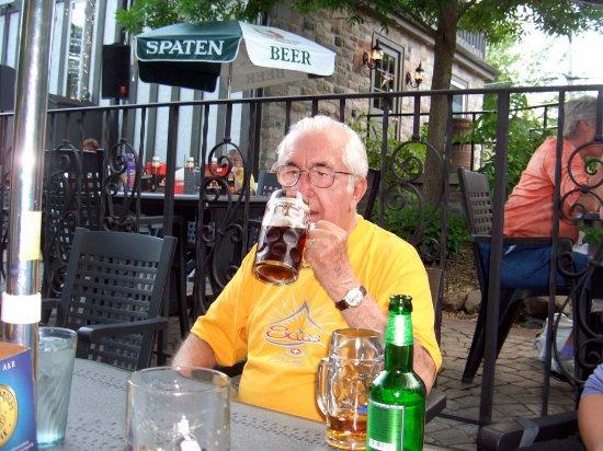 Germantown, WI: Guenther enjoying a dunkel.