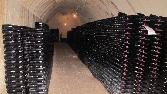 Épernay, France : A part of cellar.