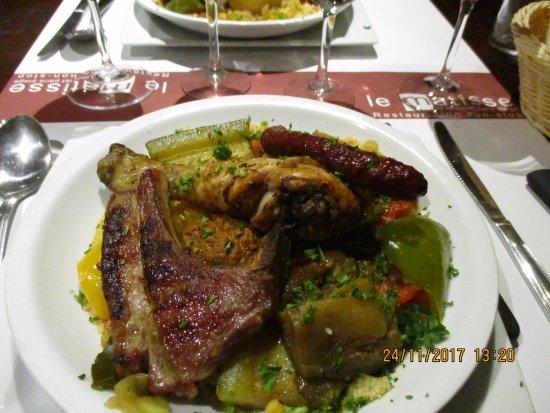 Le Matisse : couscous viande.
