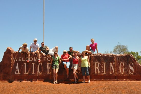 Welcome to Alice Springs - Picture of Alice Springs, Red
