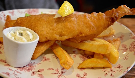 The Carpenters Arms: fish and chips
