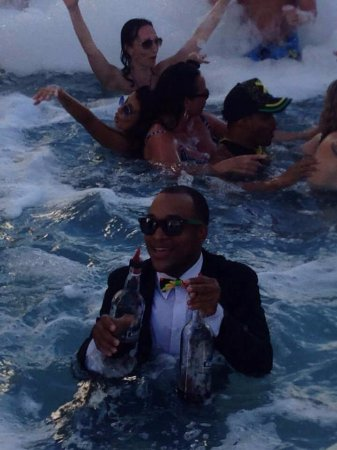 Secrets Wild Orchid Montego Bay: Leo at the foam pool party at Breathless
