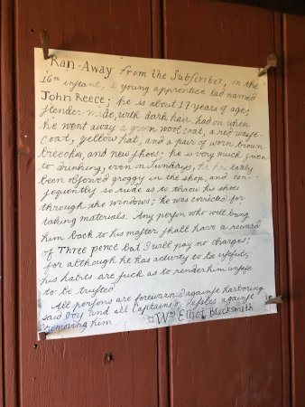 Staunton, VA: Posted notice on blacksmith shop