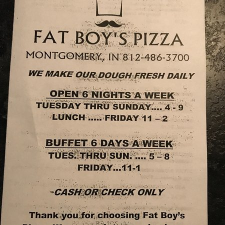 Fat Boy's Pizza: Menu