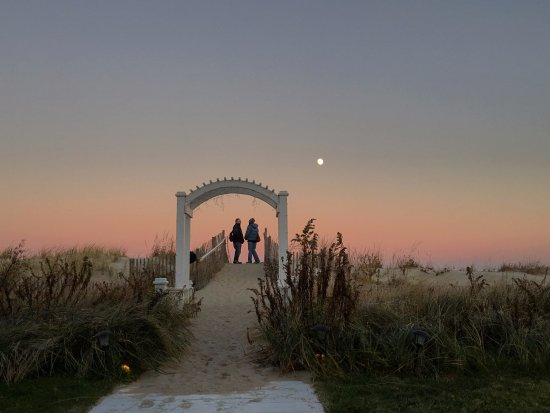 Addy Sea : Guests watch the moonrise.