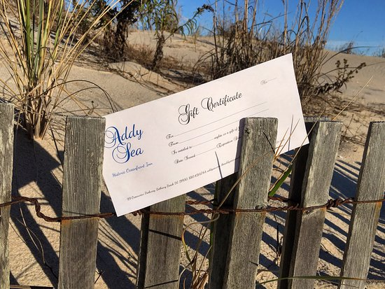 Addy Sea : We offer Gift Certificates!!