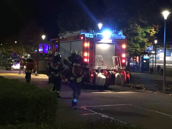 Rheinmünster, Deutschland: I've never seen German firefighters in action. And so it turned out.