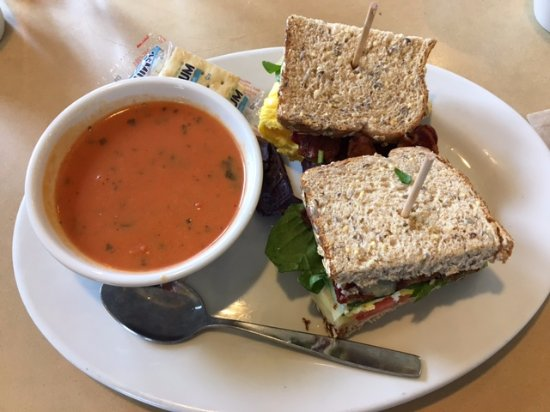 First Watch: Da wife loved her cup o soup and egg sandwich!