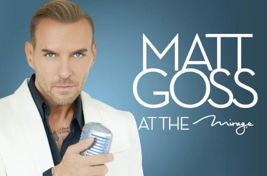 Matt Goss no Mirage Hotel e Casino...