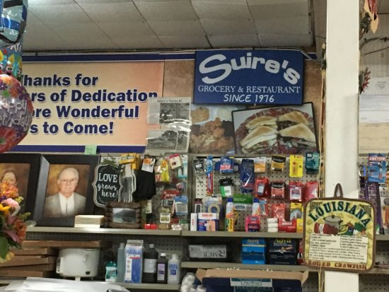 Kaplan, LA: Suire's continues to serve as a grocery, as well as an interesting place to eat.
