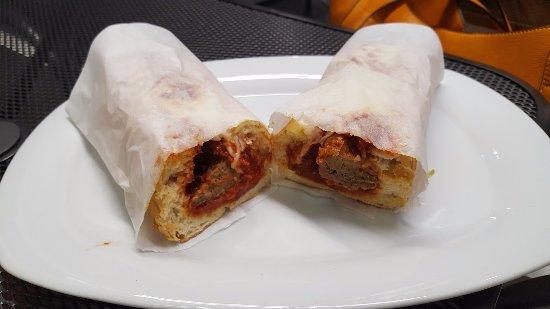 El Cajon, CA: Wrapped Up Meat Ball Sandwich