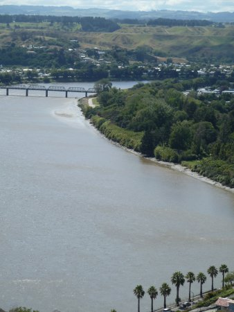Whanganui, Yeni Zelanda: view from Drurie hill