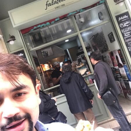 Good falafellas on a nice street away from the madness