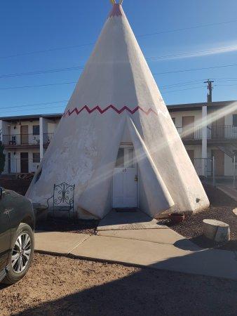 Wigwam Motel: Our concrete Wigwam...