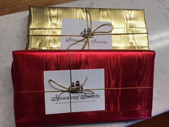 Marblehead, MA: Ask for one of our gold, yellow or blue boxes this holiday season